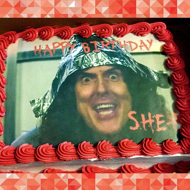 A Fan's Husband Had This Weird Al Foil-hat Cake Made For
