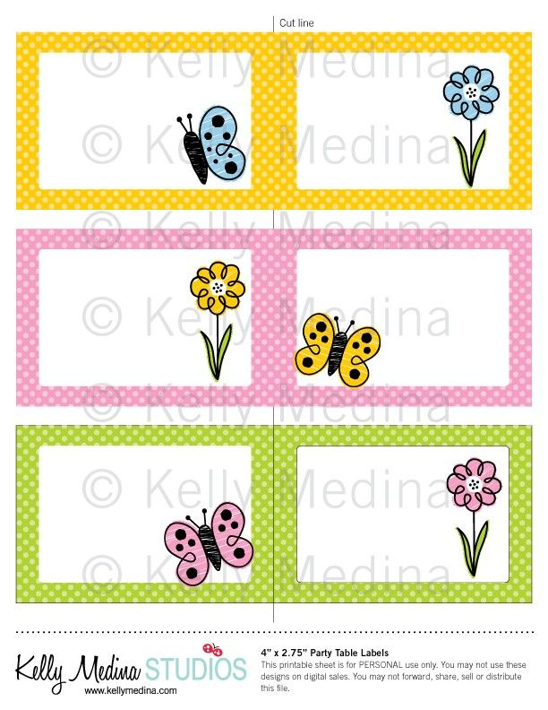 Spring+Flower+Name+Tag+Printable | Calendars | Printable