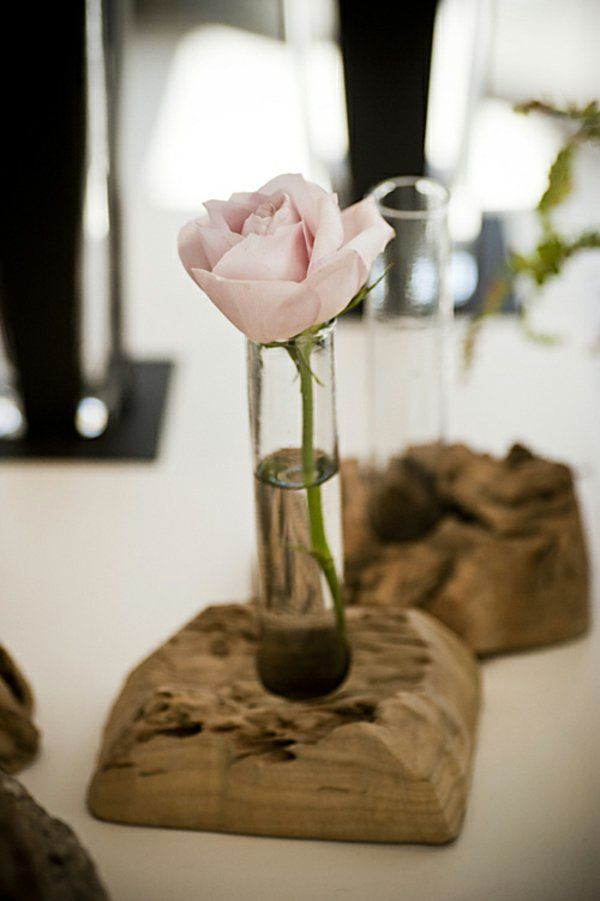 Coole Deko Ideen   21 Selbst Gemachte Baumstumpf Vasen