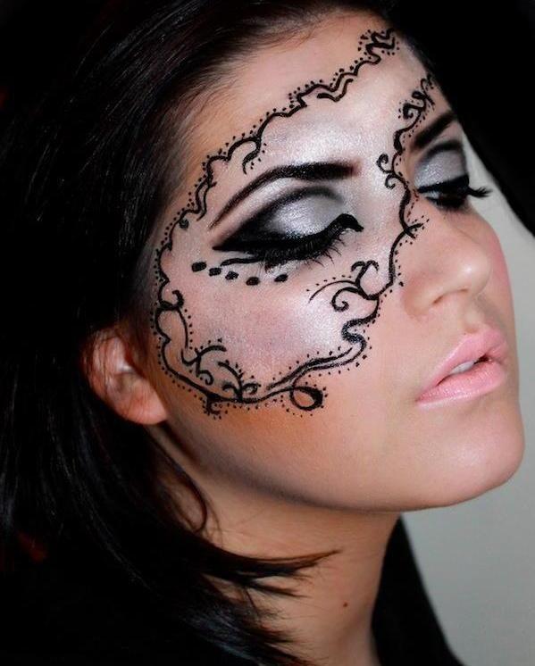 Schminktipps Fasching maske zeichnen kontur