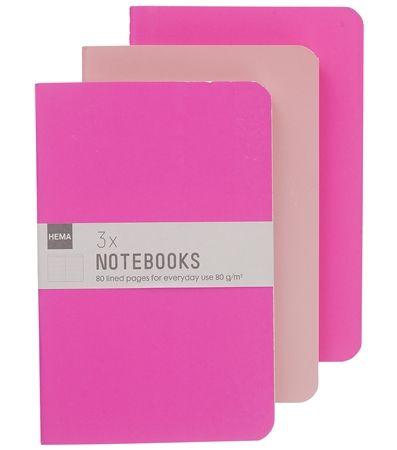 HEMA stationery - 3-pak schriftjes. Handige notitieblokjes om blogideetjes of andere lijstjes in te noteren!