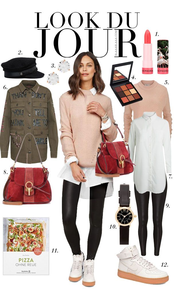 Look Du Jour: Sorry, häsch Lip Stories? White button-down shirt+
