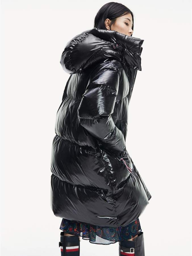 Tommy Hilfiger Gloss Down Puffer Coat Sponsored Aff Hilfiger Tommy Gloss Mantel Jacke Langer Wintermantel Mantel