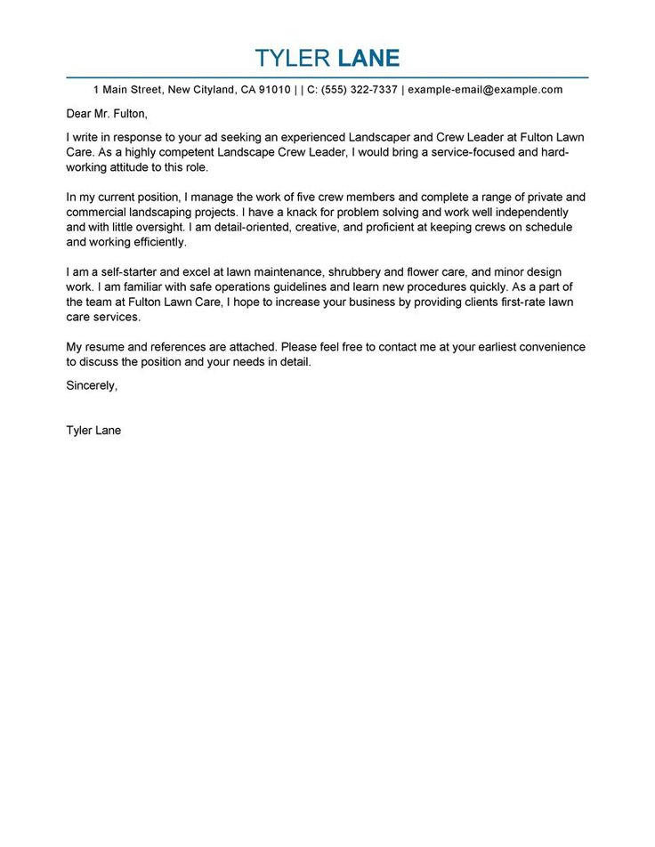 sample actress cover letter