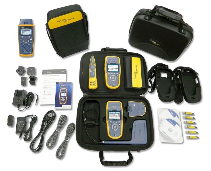 Fluke Networks ACK-LRAT-CIQ Ultimate Network Tech Troubleshooting Kit, Wifi Test, Fiber Test and Cable Test. Wired and wireless network troubleshooting kit containing AirCheck and LinkRunner AT 2000. AirCheck makes Wi-Fi troubleshooting simple. LinkRunner AT is the fastest way to solve network connectivity problems. Wired and wireless network troubleshooting kit containing AirCheck, LinkRunner AT 2000 and CableIQ Qualification Tester. CableIQ shows you what speeds existing cabling can...