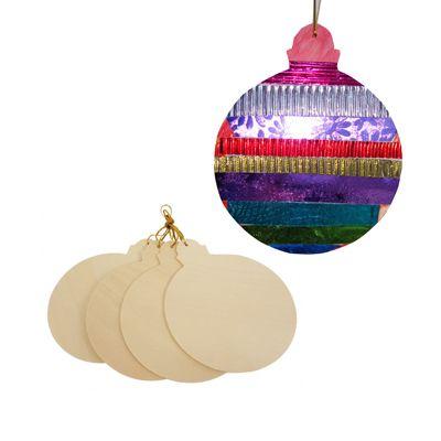 Houten kerstballen - http://credu.nl/product-categorie/sint-kerst/
