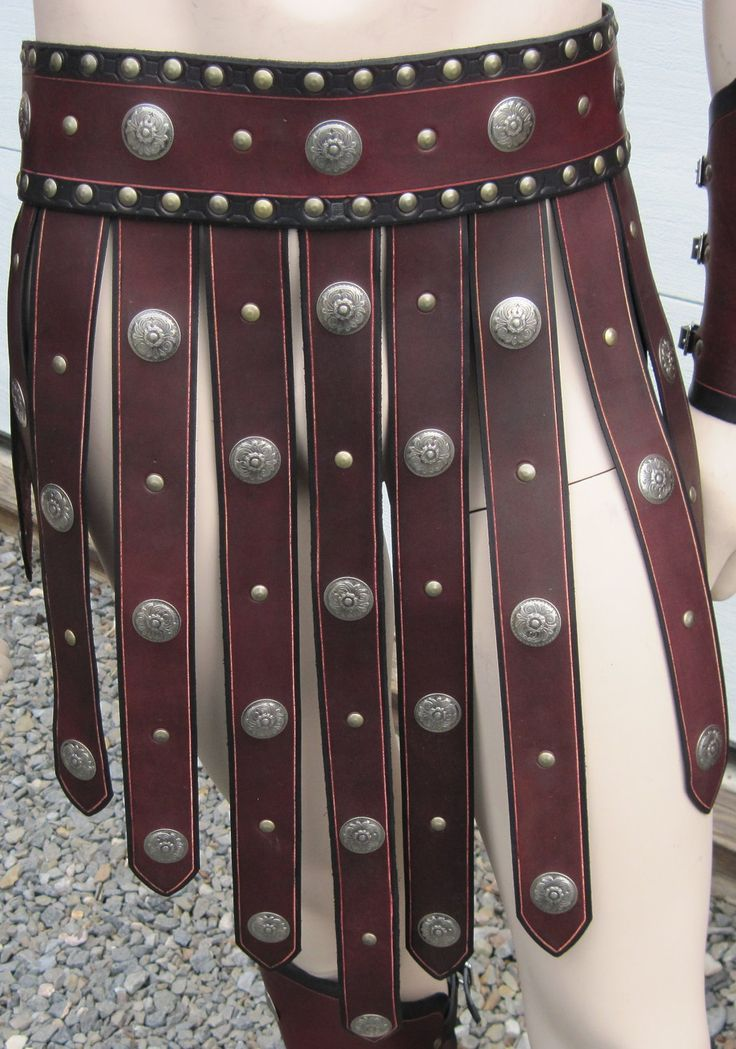 Roman Gladiator Leather Armor War Skirt.
