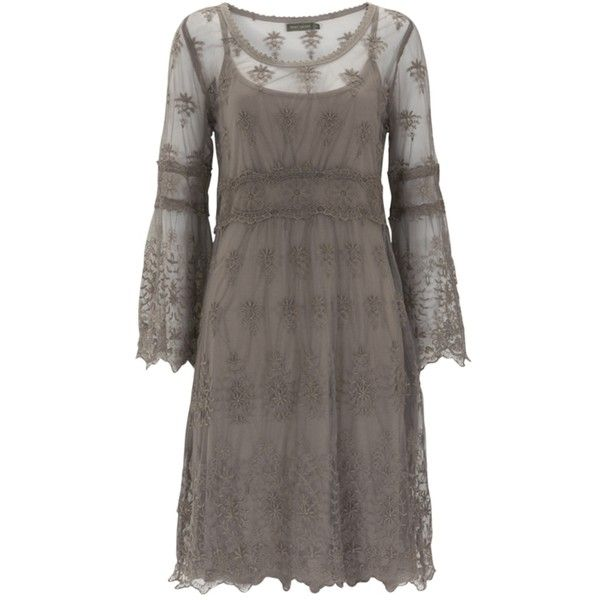 Buy Mint Velvet Mink Border Lace Dress, Neutral online at... ($135) ❤ liked on Polyvore