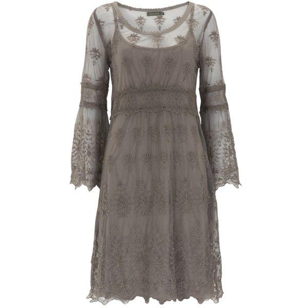Buy Mint Velvet Mink Border Lace Dress, Neutral online at... ($135) ❤ liked on Polyvore