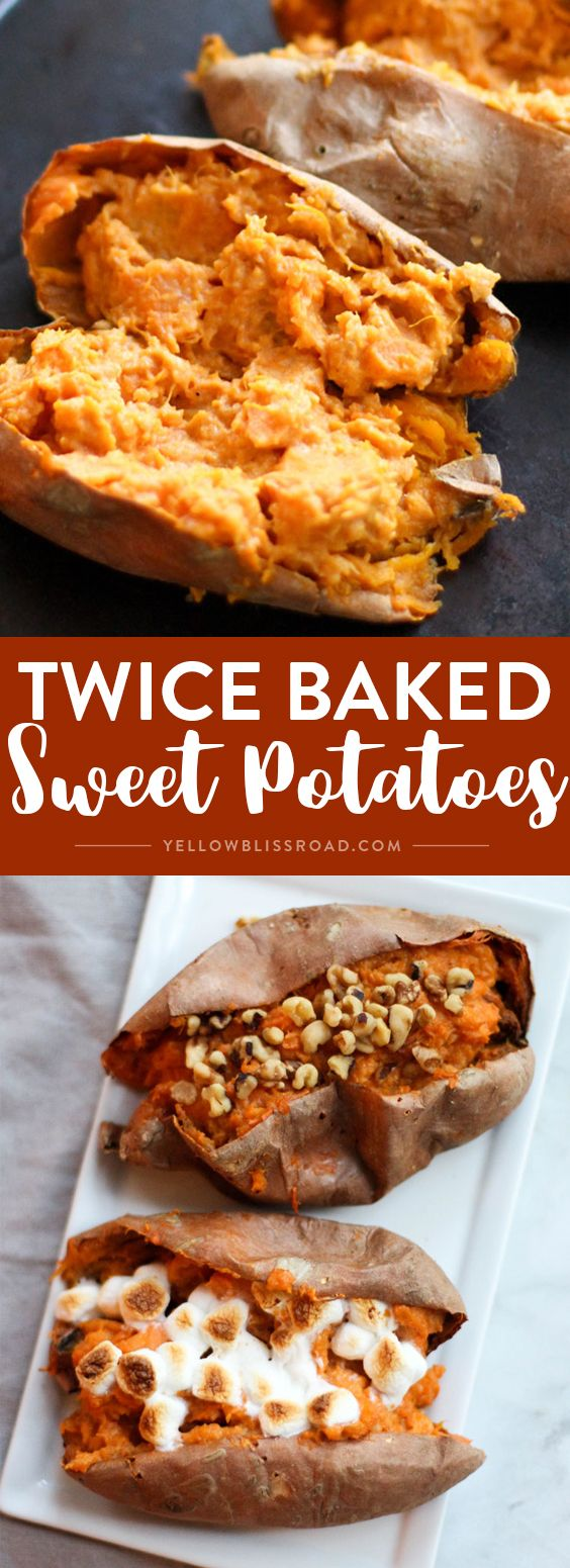 These Twice Baked Sweet Potatoes are full of fall flavors and make for ...