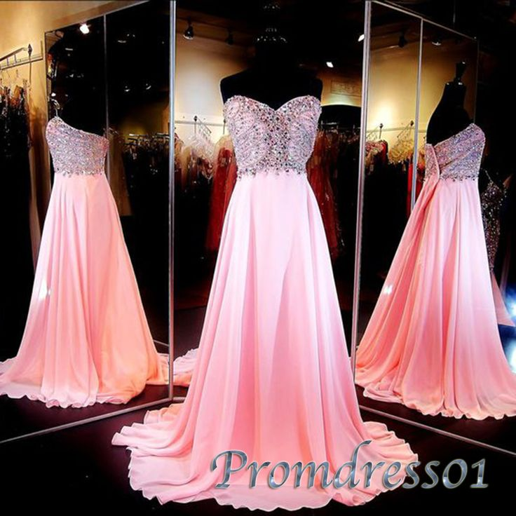 Cute beaded pink lsweetheart dress for prom 2016, ball gown, prom dresses long #coniefox #2016prom