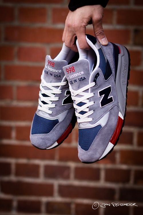 New Balance M998GNR Made in USA Sneakers in Grey, Navy, Red and Black
