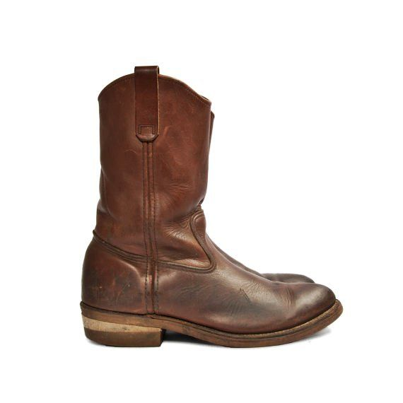 Men's Red Wing Pecos Boots Vintage Motorcycle Ropers for a Size 9 E (Wide)