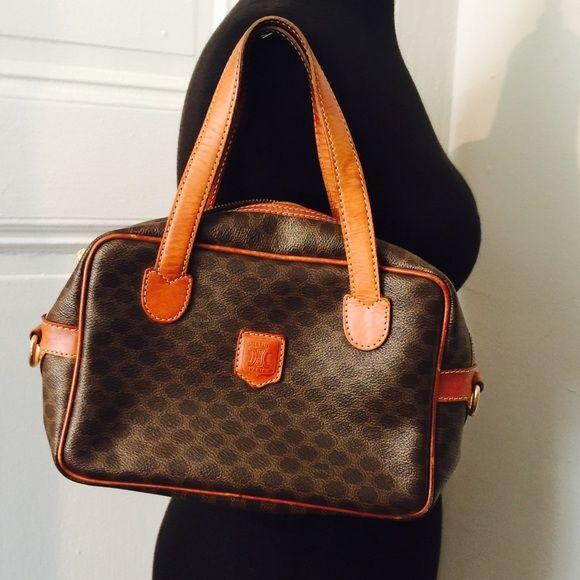 authentic celine paris leather handbag handbags the o 39 jays and bags. Black Bedroom Furniture Sets. Home Design Ideas