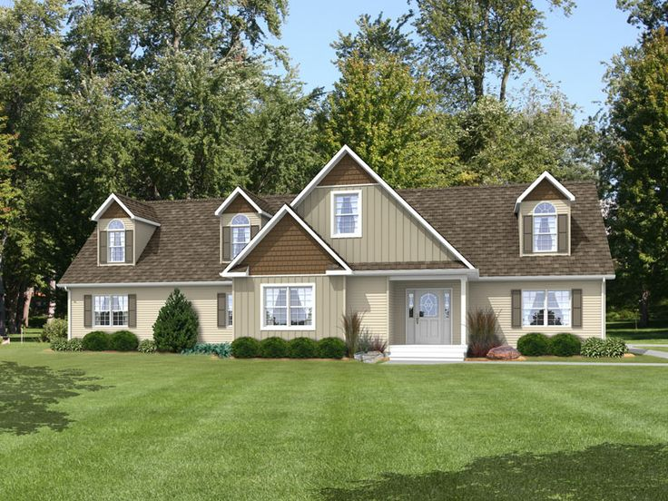 Our family flex iii rf551a rockbridge modular ranch home for Cape cod modular home floor plans