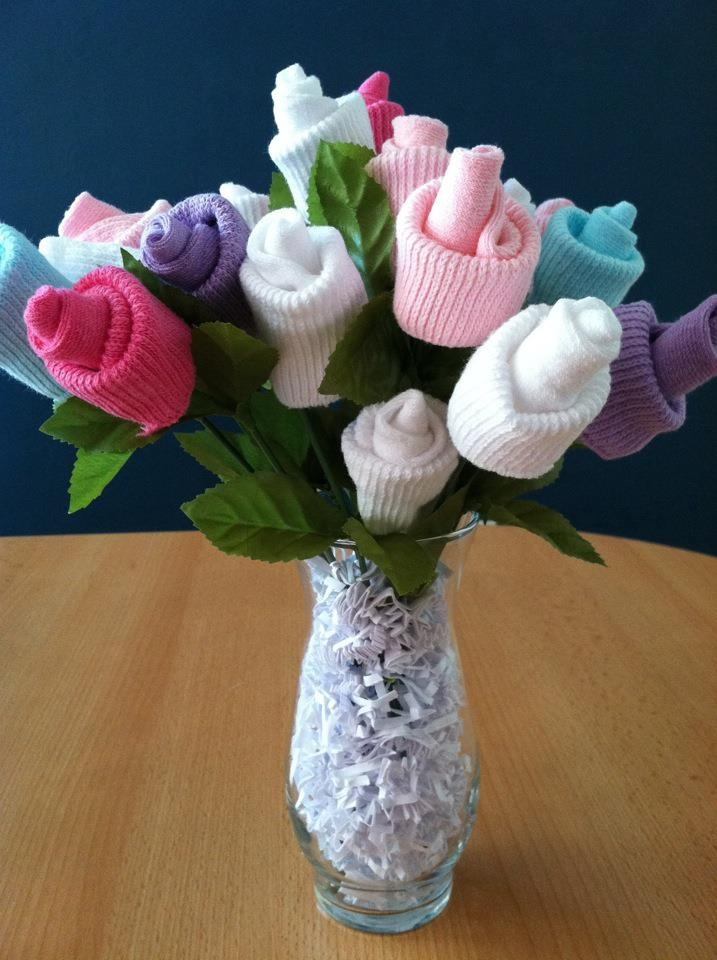 28 best sock bouquet images on pinterest baby bouquet baby baby sock rose bouquet thanks kimberly loved this negle Choice Image