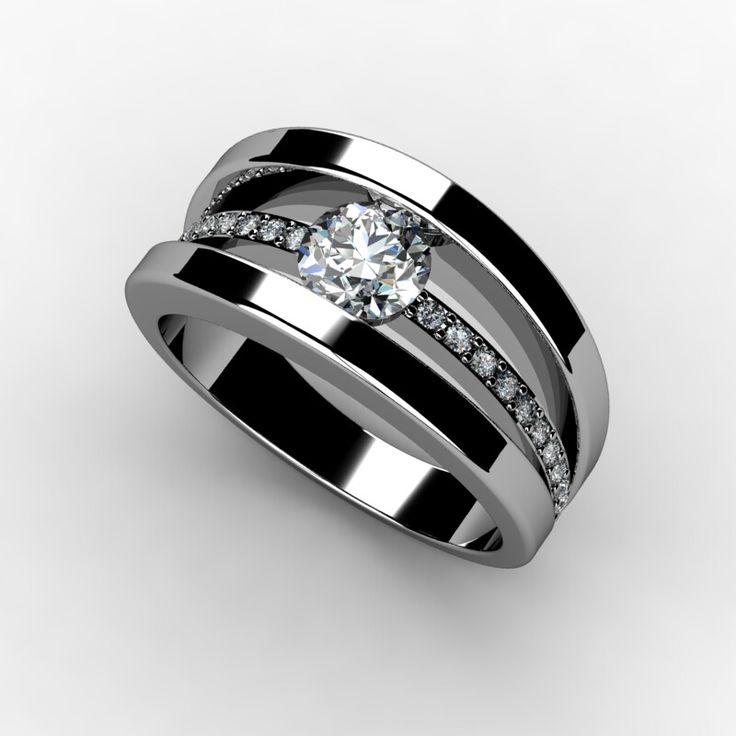 Tension Set Engagement Ring www.marionrehwinkeljewellery.com