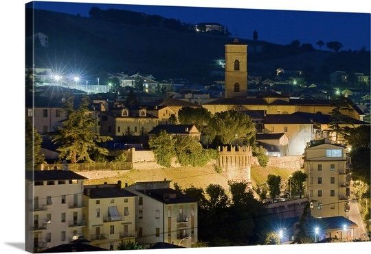 Tolentino Italy by night...
