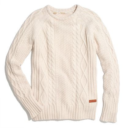 Barbour for Madewell sweater.Cable Knit Sweaters, Madewell Sweaters, Fishermans Sweaters, Fishermans Knits, Barbour Sweaters, Knits Sweaters, Barbour Fishermans, Barbour Clothing, Cable Knits