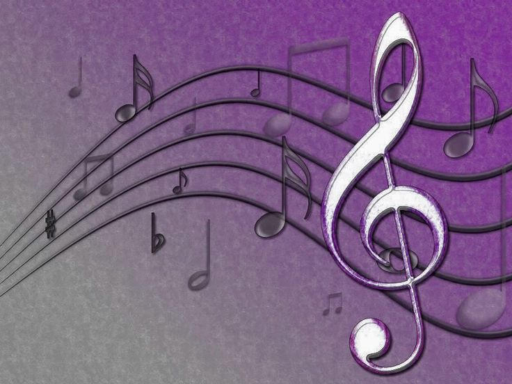 Purple music notes music notes vintage purple images - Michael in the bathroom sheet music ...