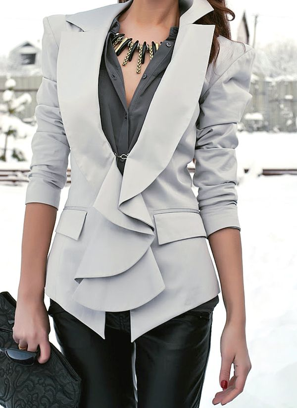 This jacket and the way it accentuates a woman's figure <3