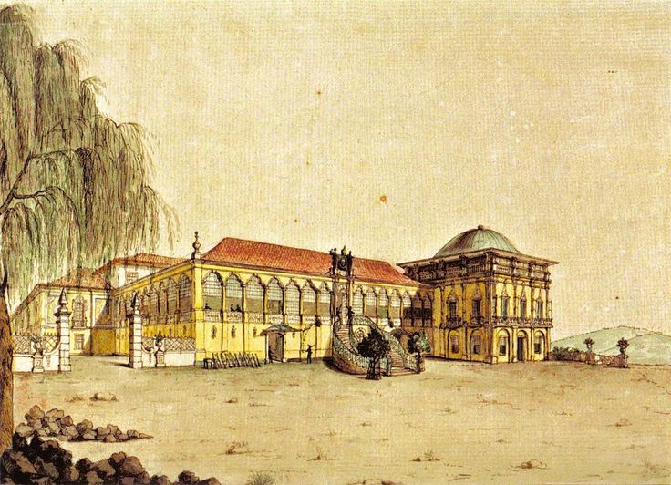 * Paço Real * Quinta da Boa Vista. 1817. (by Jean-Baptiste Debret).