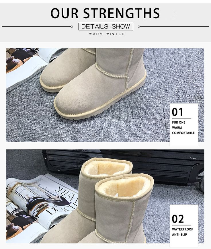 GXLLD New Arrival 100% Real Fur Classic Mujer Botas Waterproof Genuine Cowhide Leather Snow Boots Winter Shoes 	100% of buyers enjoyed this product!	6 orders List price: US $133.00 Price: US $79.80 & FREE Shipping You save: US $53.20 (40%)