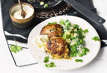 Fischlaibchen mit Erbsenreis und Curryjoghurt FRISCH GEKOCHT Magazin 01. Dezember 2015