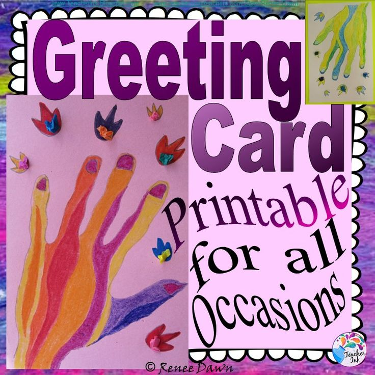 Greeting card for all occasions get well thank you