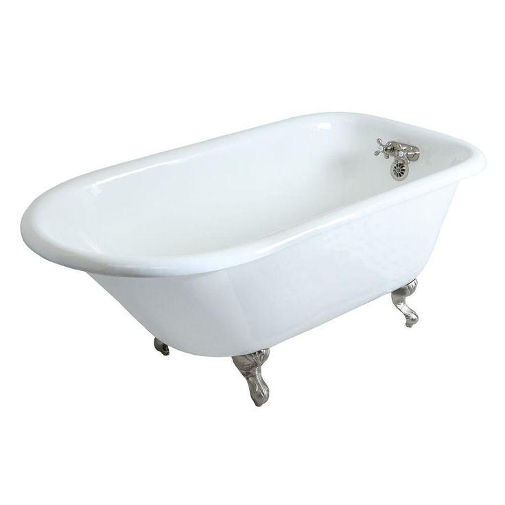Kohler Birthday Bath 6 Ft Porcelain Enameled Cast Iron Claw Foot Reversible Drain Bathtub In Biscuit Bathtub Cast Iron Bathtub Steam Showers Bathroom