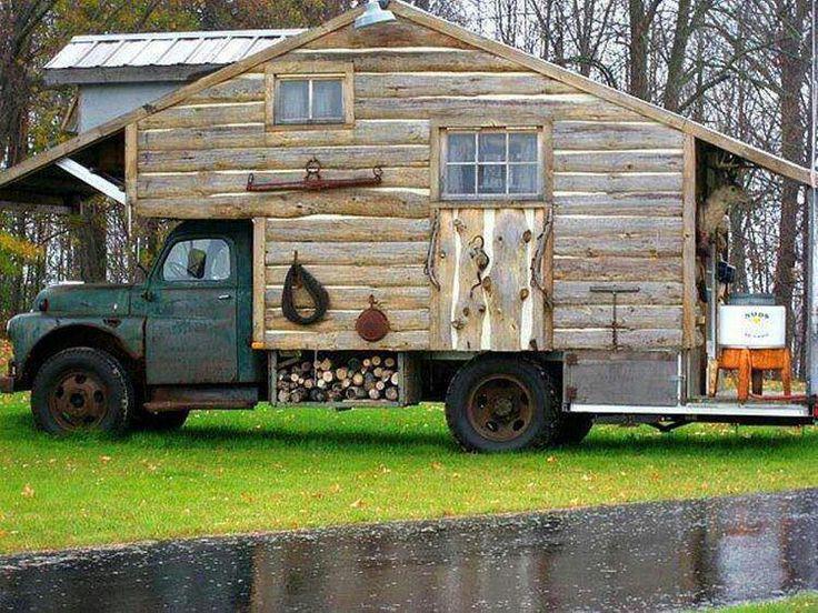 Cabin House On A Truck Bed Caravanserai Pinterest