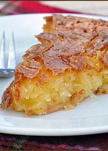 French Coconut Pie - Cocinando con Alena