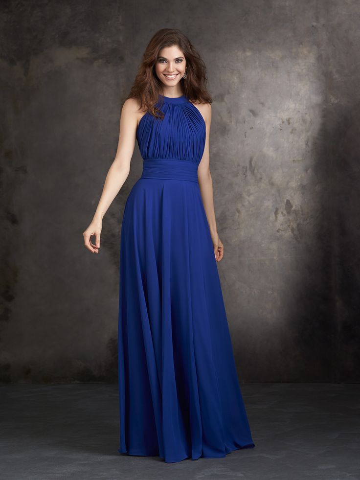 Ignore the blue: the dress comes in 8 different shades of purple and the back is beautiful.