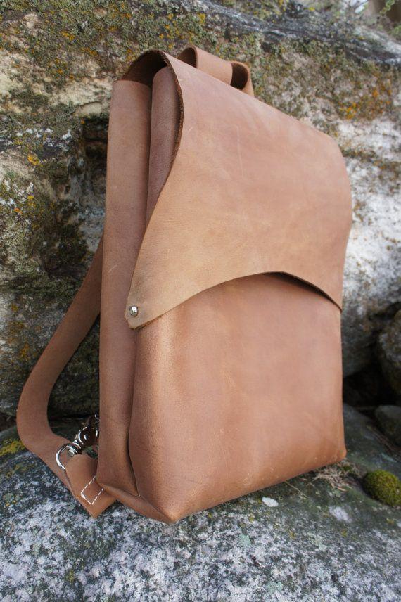 Alanis - cuir Pack, Rucksak, cuir, sac cuir marron, résistant sac a dos