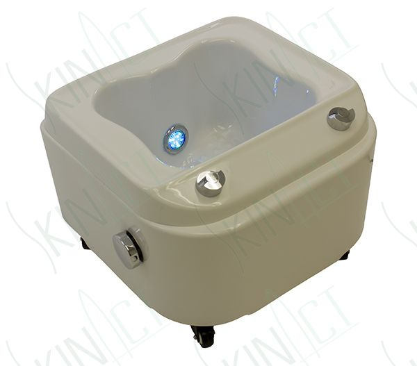 Pedicure Bowls on wheels | Portable Foot Spa with JET and LED