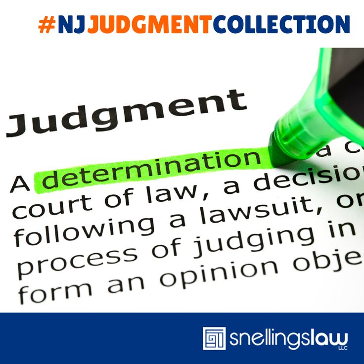 New Jersey Judgment Collection - Contact our law firm today for a free consultation. #NJJudgmentCollection