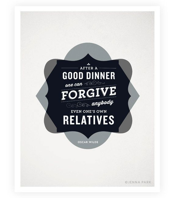Art Print  Oscar Wilde Quote  Food Quotes  Kitchen by SweetFineDay, $20.00