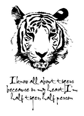 Tiger Print - Black screen print