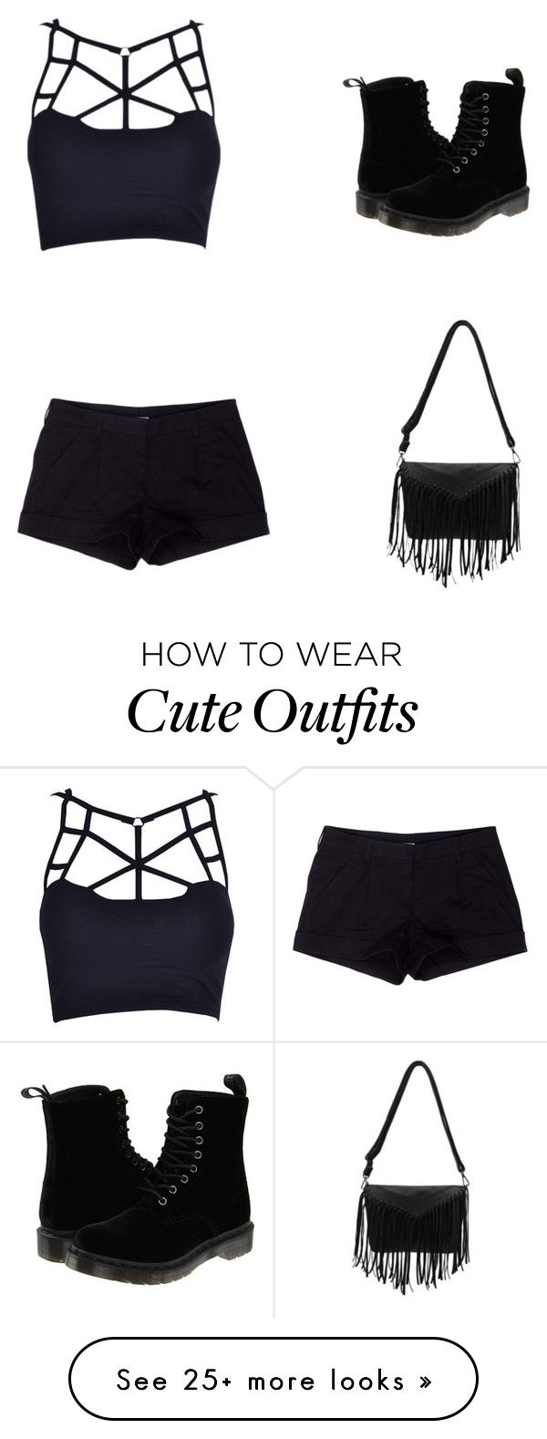 """My First Polyvore Outfit"" by jegvarirebeka on Polyvore featuring Prada Sport and Dr. Martens"