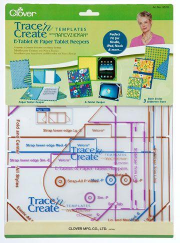 Gabarit housse de tablette électronique et papier