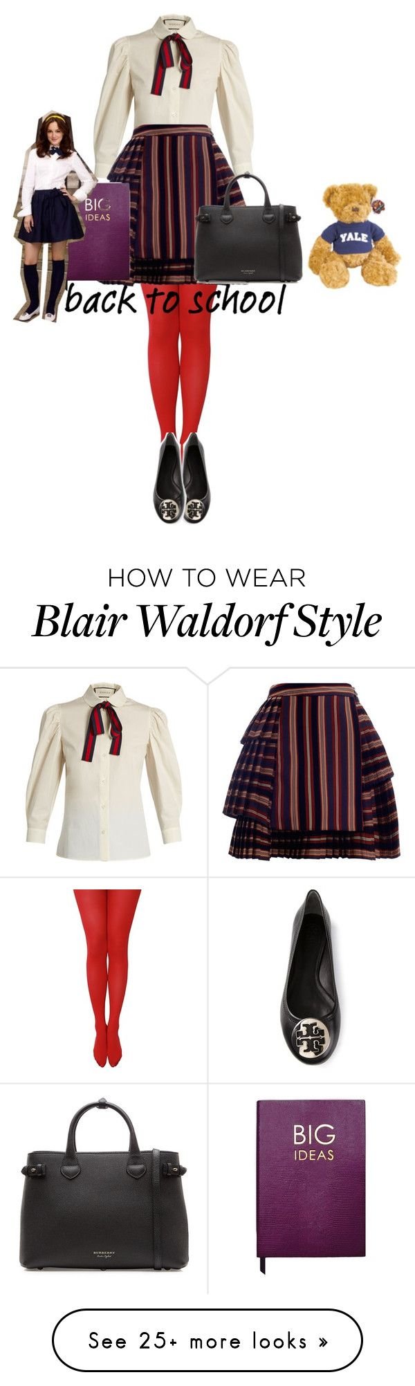 """""""blair waldorf"""" by littlemisskarlee on Polyvore featuring Gucci, Zimmermann, Tory Burch, Burberry and Sloane Stationery"""