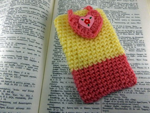Cell Phone Case Mobile Case Crochet Phone Case Phone by CRAZYBOOM