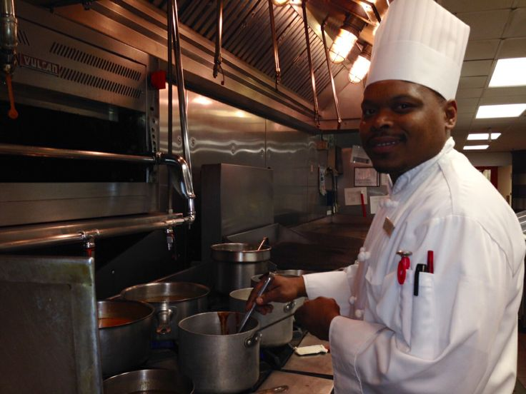 Dijon working hard in our kitchen.  Visit careers.marriott.com to become a part of our team.  #detroitmarriott