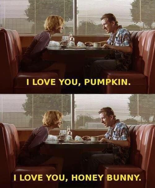 honey bunny. pulp fiction