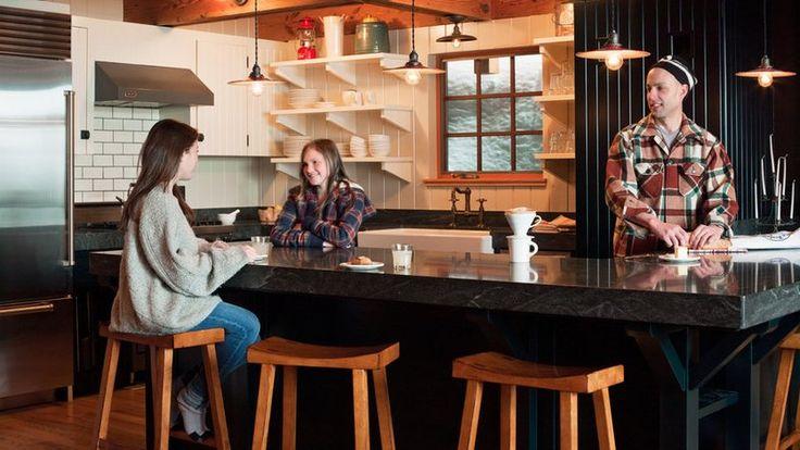 Tahoe cabin remodel: Timeless kitchen