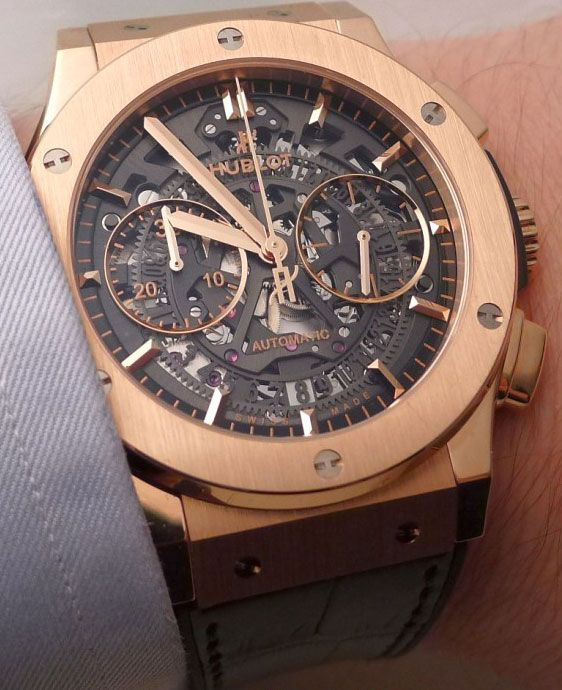 17 best images about watch rose gold watches and hublot classic fusion aero chronograph let s have lunch watch for men