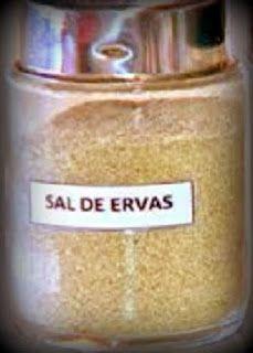 Receita de sal de ervas - uma delícia, sempre tenho em casa e é muito fácil de fazer.