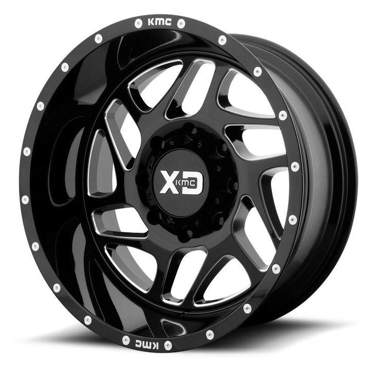 "22"" XD Series XD836 Fury Black Milled Wheel 22x10 5x5.5"