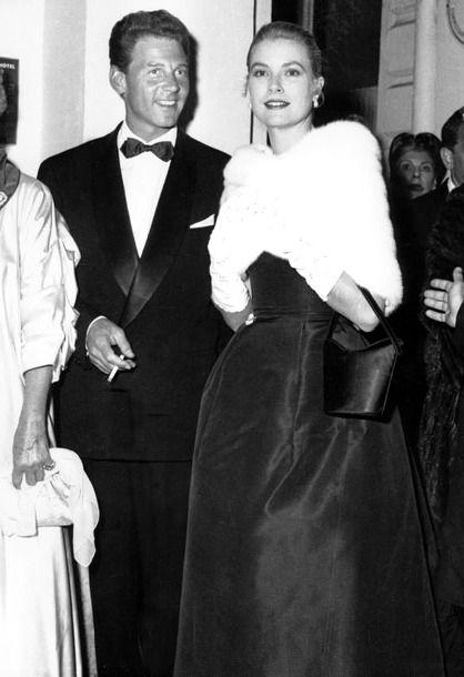 Jean-Pierre Aumont and Grace Kelly, 1955
