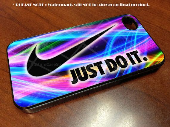 Just Do It Nike - iPhone 4 / iPhone 4S / iPhone 5 Case Cover by CustomCaseStudio, $14.99
